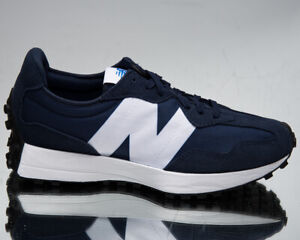 New Balance 327 Men's Navy White Low Casual Athletic Lifestyle Sneakers Shoes