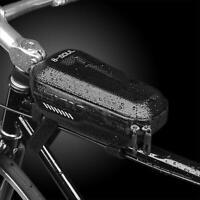 Waterproof Cycling MTB Bike Bicycle Hard Shell Zip Front Frame Pannier Tube Bag