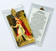 SAINT ST PHILOMENA - PRAYER CARD & MEDAL