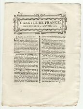 1767 jan.9, Original French Gazette, Charles-Town Letters, East India Company