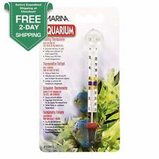 Floating Thermometer With Suction Cup Aquarium Fish Tank Temperature Tool Marina