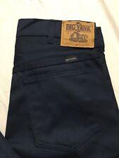 Vintage Big Yank Jeans Size 31x34 Navy Blue Straight Leg Usa Union Made Nwot