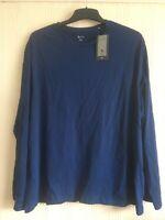 BNWT  NAVY men's XXL  (2XL) plain long sleeve tshirt  by TU  100% COTTON