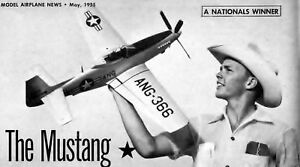 F-51H / P-51 PLAN & PATTERNS for McCroskey Nats-Winning UC Scale Model Airplane