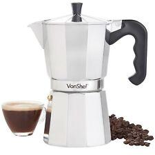 VonShef 9 Cup / 450mI Italian Espresso Stove Top Coffee Maker Percolator Pot