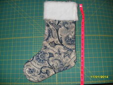 Christmas Stocking - Handmade (Blue Flowery)