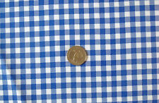 DARK ROYAL BLUE GINGHAM CHECK COUNTRY OILCLOTH VINYL SEW CRAFT DECOR FABRIC BTY