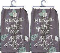 Primitives by Kathy Set of 2 Friendsgiving Dish Towels