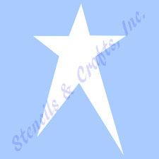 "4 1/2"" PRIMITIVE STAR STENCILS TEMPLATES CRAFT STARS CELESTIAL TEMPLATE #2 NEW"