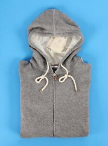 $2595 NWT - BRUNELLO CUCINELLI 100% CASHMERE HOODIE HOODED Sweater - Gray - 48 M