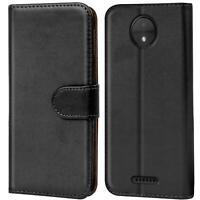 Book Case für Motorola Moto C Plus Hülle Tasche Flip Cover Handy Schutz Hülle