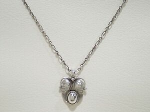 """GEORG JENSEN sterling silver 1994 year of pendant necklace 17.5"""""""
