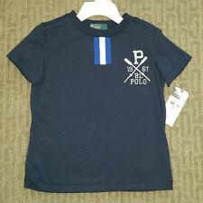 Ralph Lauren. Boys 3T Navy Crewneck T-shirt. NWT