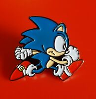 SONIC The Hedgehog Pin Enamel Metal Brooch Lapel Badge Kids Adult Fun Gift