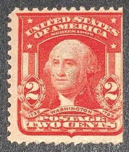 Travelstamps: 1903 US Stamps Sc #319g, 2 Cent Washington, Mint Og, Never Hinged