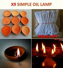 Oil Lamp Very Simple Classic Clay Oil Lamp (X9 Lamp Set) Real pictures | NATURAL