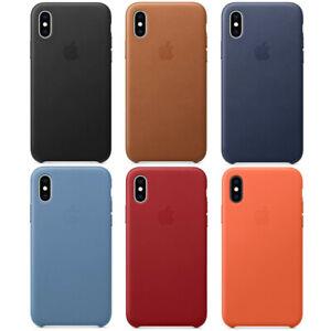 Original Apple iPhone XS Leder Schutz Hülle Case Cover in Originalverpackung
