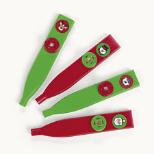 12 CHRISTMAS Holiday Party Favors Pinata Filler Kids KAZOOS Noise Makers