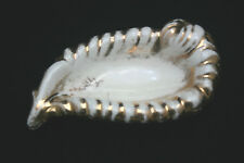 Vntg Ashtray Trinket Dish Bowl Shell 24 Karat Gold Painted Le Mieux Ceramic