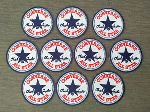 10 pcs CONVERSE ALL STAR Sport Badge Patch Iron on Embroidered  or Sew on