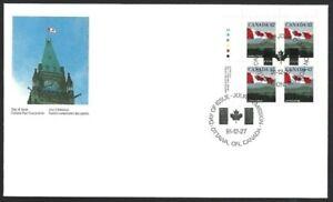 Canada  # 1356 ULpb  Flag Over Hills      Brand New 1991 Unaddressed Nice Cover