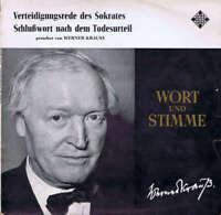 Werner Krauss* - Verteidigungsrede des Sokrates / Schl Vinyl Schallplatte 170325