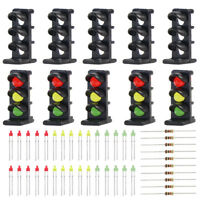 JTD15 10 sets Target Face With LEDs for Railway Dwarf signal N Z Scale 3 Aspects