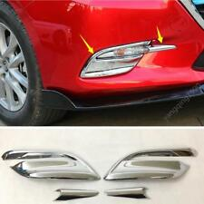 FOR 2017 2018 MAZDA3 ABS Chrome Front Fog Light Lamp Bezel Cover Trim 4pcs
