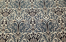 MAGNOLIA HOME WINCHESTER MIDNIGHT BLUE IKAT UPHOLSTERY FABRIC $6.99/YD 93/94FE