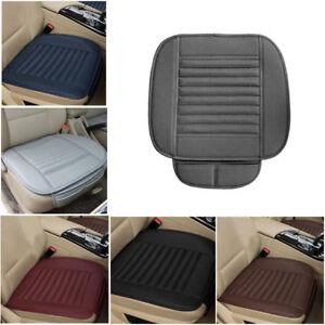 PU Bamboo Charcoal Car Seat Cushion Cover Pad Mat Protector Pockets Comfort
