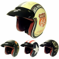 Motorcycle Helmet Retro Scooter Casque torc Motorbike Open Face Jet Helmets Dot