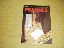 rare oop PEACHES No 49 Mens Monthly adult material vintage UK Copyright 1977 18+