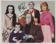 """Signed """"Munsters"""" 8X10 Color RP Photo w/coa Free Shipping"""