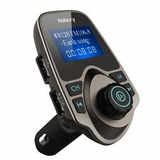 Upgraded Nulaxy Wireless In-Car Bluetooth Fm Transmitter Radio Adapter brown