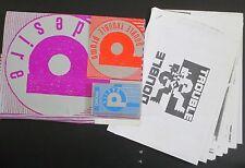 DOUBLE TROUBLE AS ONE 1990 PROMO KIT + CASSETTE + TALKBACK PROMO CD + REBEL MC