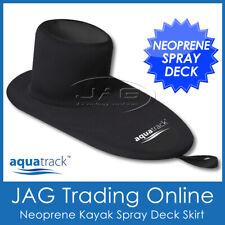 AQUATRACK DELUXE NEOPRENE KAYAK SPRAY DECK SKIRT- Waterproof Black Universal Fit
