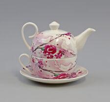 a5-52469 Tè per un Set Porcellana brillante Arredonneto Rosa con Colomba H14cm