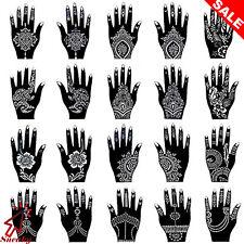 20 Reusable Temporary Tools India Henna Template Hand Body Art Tattoo Stencils