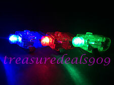 100 PCS FINGER LIGHT UP RING LASER RGB LED RAVE PARTY FAVORS GLOW BEAMS BRIGHT