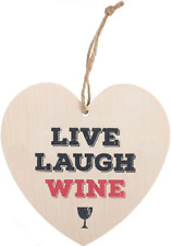 Something Different Live Laugh Wine Hanging Heart Sign