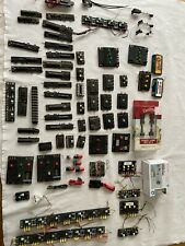 Large Lot Ho N Scale Electric  Train Switches, Lights, Parts Etc.