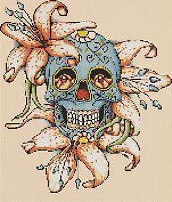 Cross Stitch Chart - sugar skull / day of the dead no. 8a- No. 364 .TSG37