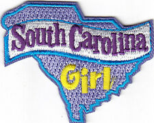 """SOUTH CAROLINA GIRL""- Iron On Embroidered Patch/State Shape/Words,Names,Sayings"