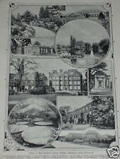 Print over 100 years old Views in Kew Gardens Royal (also available framed)