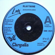 "LINX - Plaything - Excellent Condition 7"" Single Chrysalis CHS 2621"
