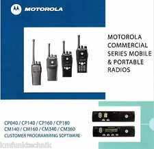Motorola Logiciel cp040 cp140 cp160 cp180 cm140 cm160 cm340 cm360 gmvn 5068k
