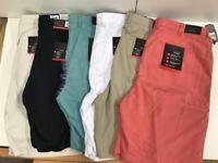 Greg Norman Mens Shark Attack Golf Athletic Stretch Shorts