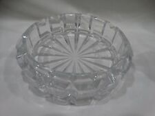VINTAGE Crystal Clear Heavy Glass Cigar Cigarette Ash Tray 7 1/2'' in diameter