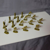 16 Airfix British Eighth 8th Army Men Vintage Toy Soldiers NS510  FREE SHIPPING!