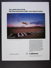 1992 Lufthansa Airlines Pilot Training Center phoenix az photo vintage print Ad